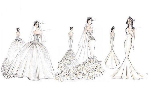 ideas para diseñar tu vestido de novia | bocetos de moda | wedding