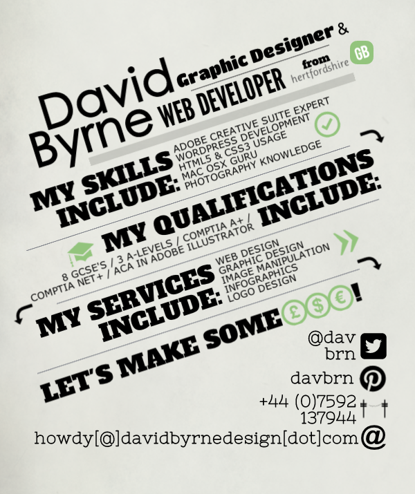 he designs infographic resumes like this one