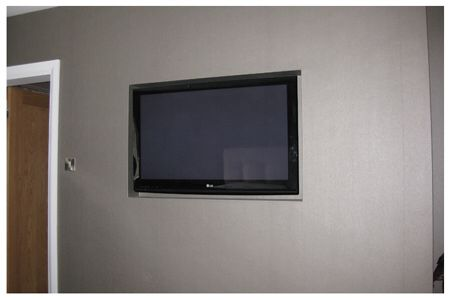 Tv Recessed In Wall Modern Glam Living Room Tv Wall Decor Glam Living Room