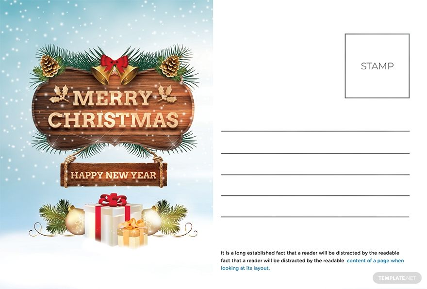 Christmas Thank You Postcard Template Free Pdf Word Psd Apple Pages Publisher Christmas Postcard Template Christmas Thank You Postcard Template Free