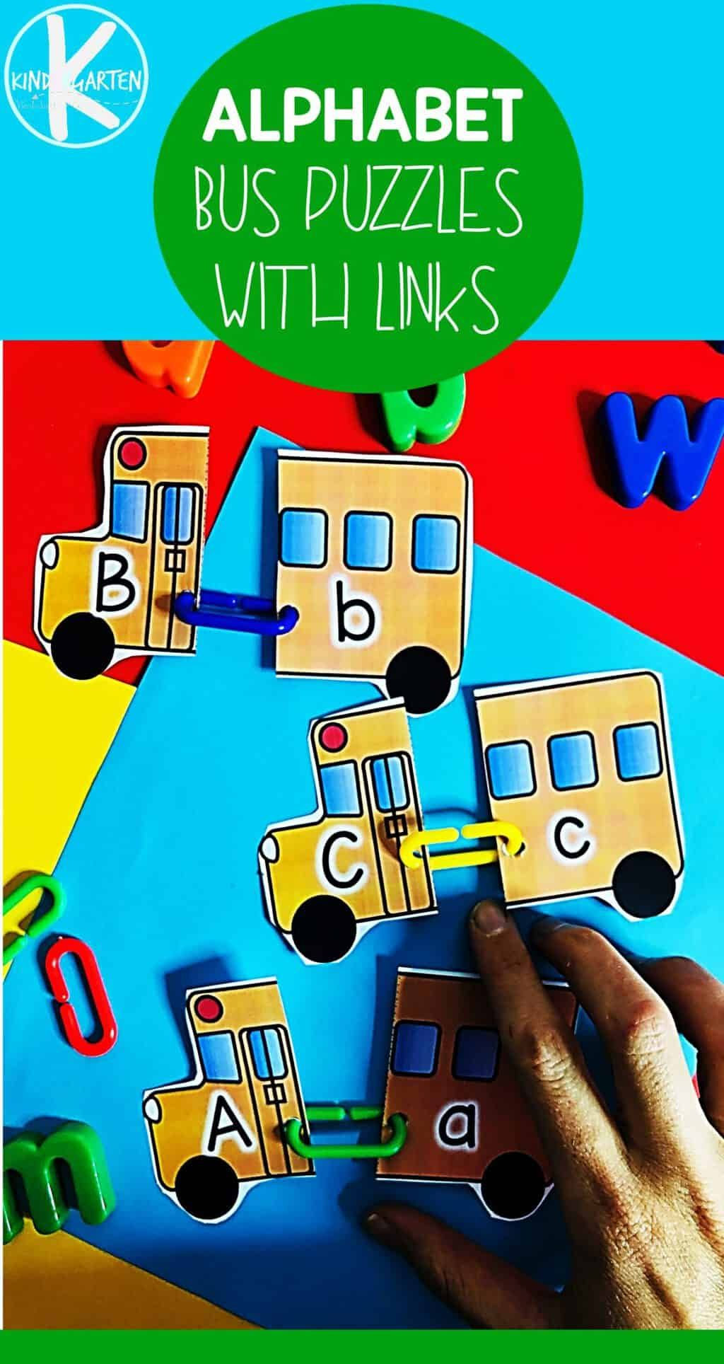 School Bus Letter Matching