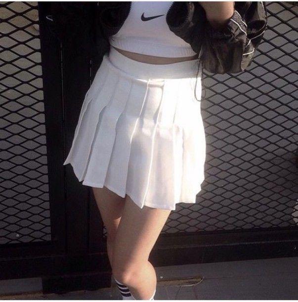 Skirt 54 At Store Americanapparel Net Wheretoget Skirt Trends White Tennis Skirt Skirt Outfits Fall