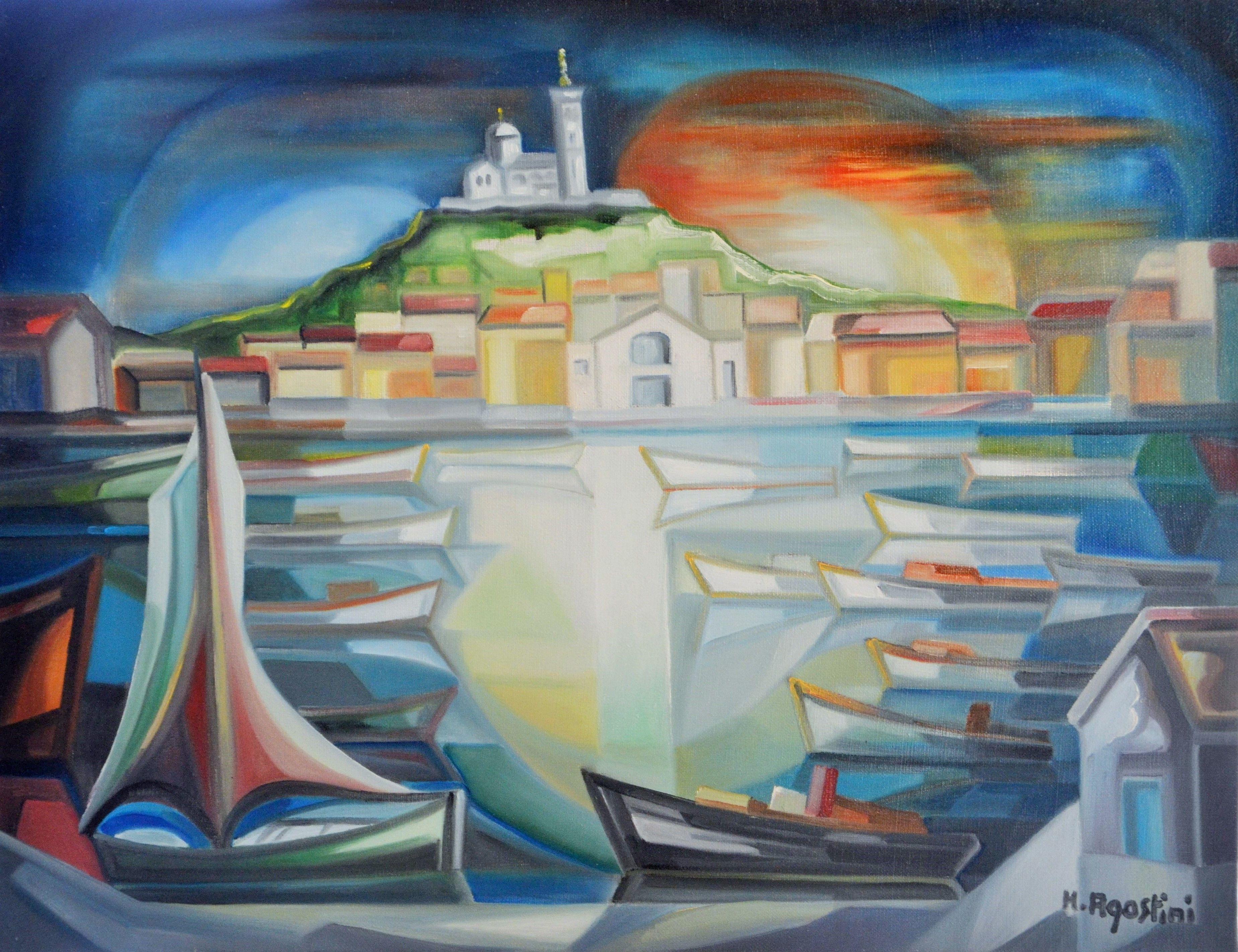 Hubert agostini n marseille en 1935 est un artiste - Artiste peintre marseille ...