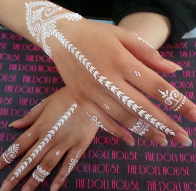 Simple White Henna Henna Love Henna White Henna Tattoos