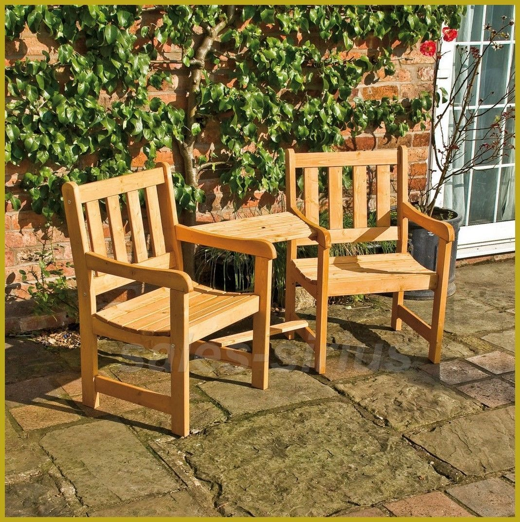 Enjoyable Garden Love Seat Companion Set Table Bench Chairs Duo Patio Theyellowbook Wood Chair Design Ideas Theyellowbookinfo