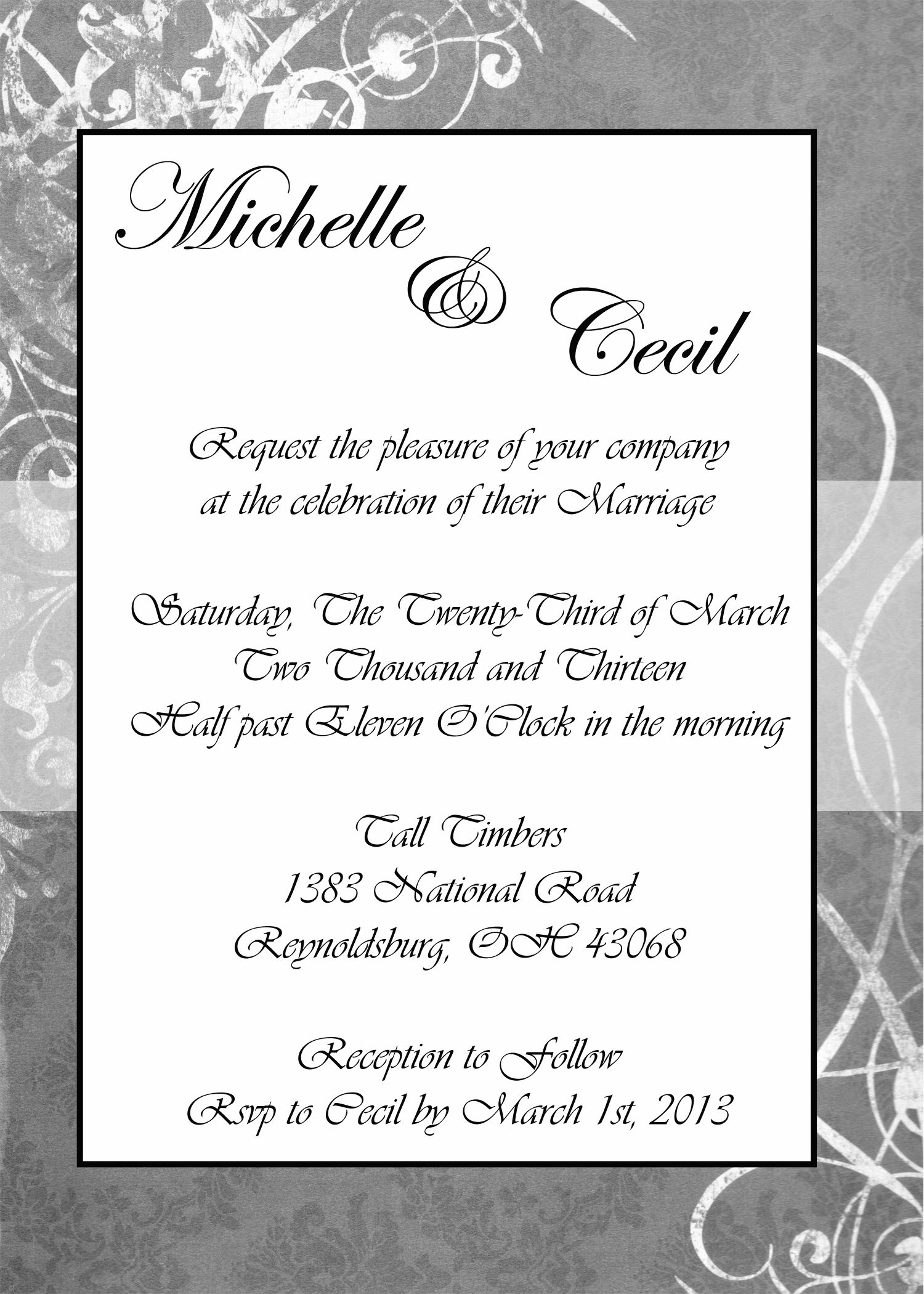 Jennifer Marshbank Photography and Design does invitations as well ...