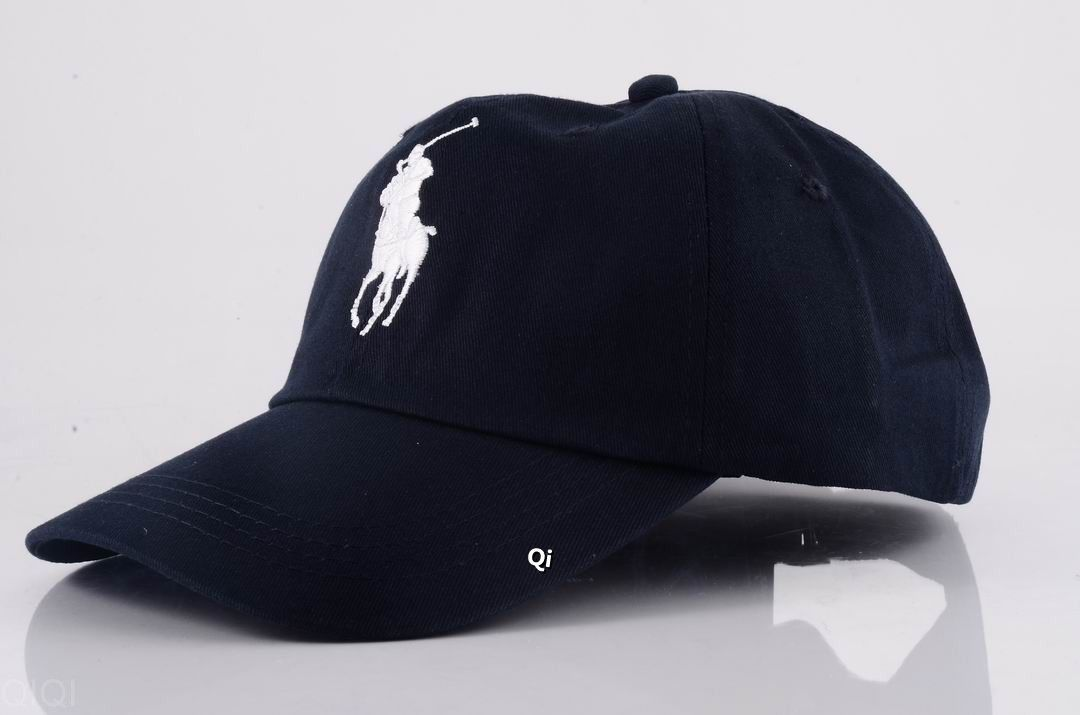 Ralph Lauren Big Pony Classic Sports Cap Navy Blue / White http://www