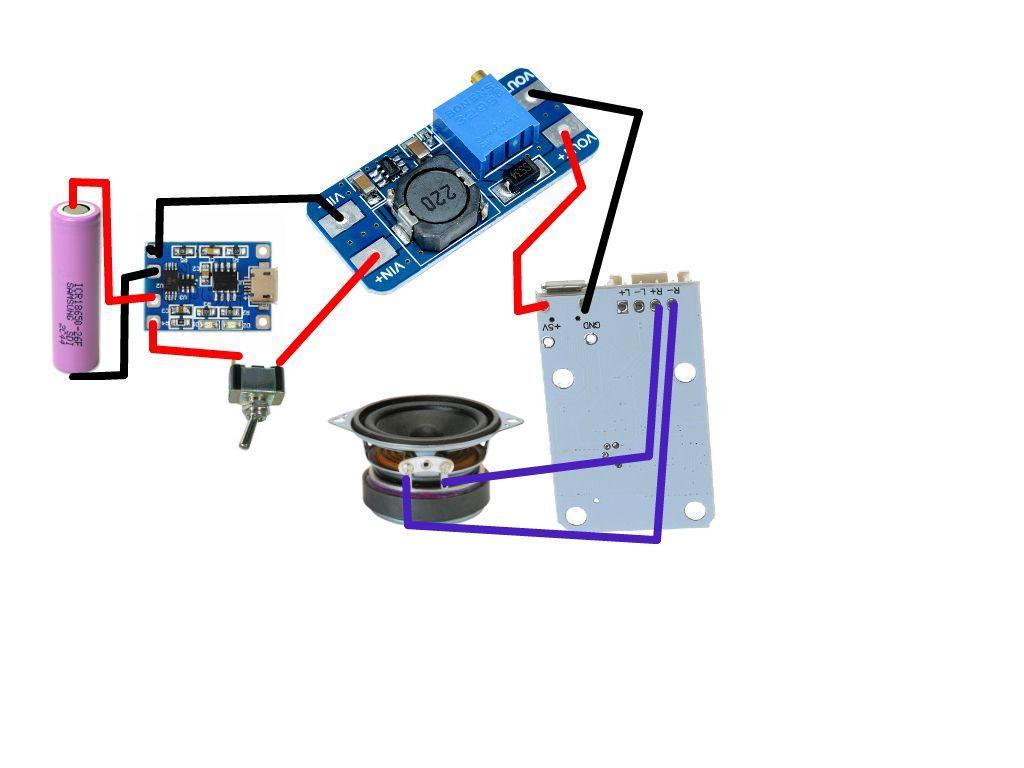 Tam Devre Semasi Resim Bluetooth Diy Bluetooth Speaker Speaker