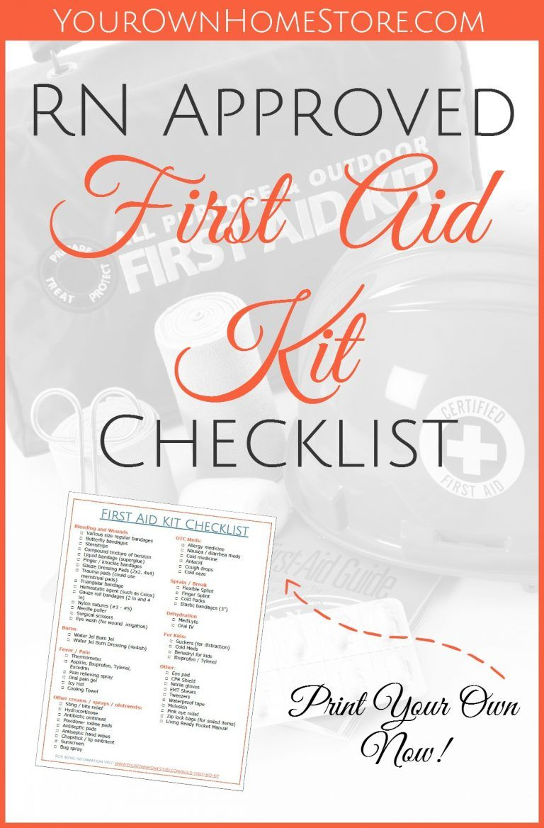 A Printable Rn And Mom Approved First Aid Kit Checklist School