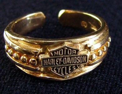 Harley Davidson Stamper 10k Gold Toe Ring Gold Toe Rings Harley Davidson Jewelry Biker Jewelry