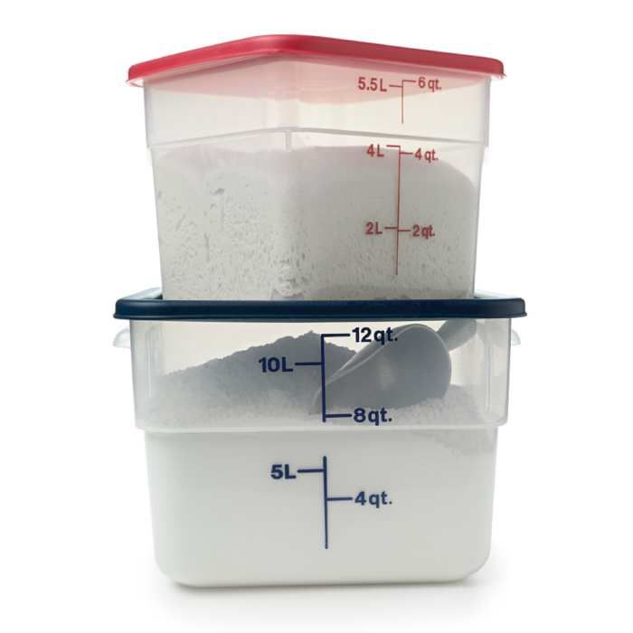 Square Storage Containers 6 12 Quart In 2020 Flour Storage Container Flour Storage Food Storage Containers