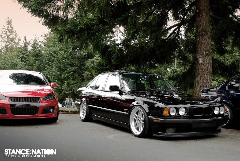 Lowered On Nex Coils With 25 Removed From The Front E34 M5 Spec M
