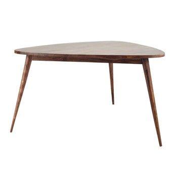 Table de salle à manger vintage en bois de sheesham massif L 136 cm