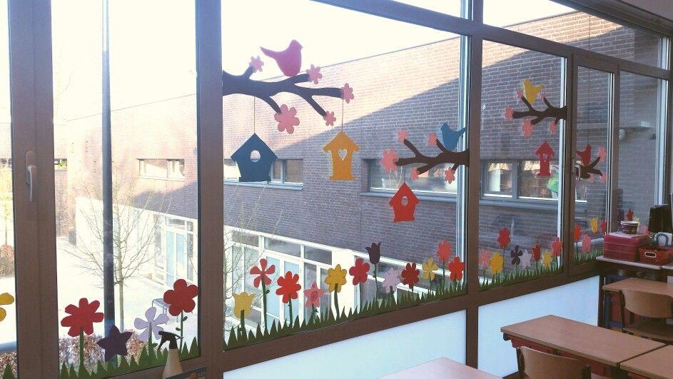 raamdecoratie lente 2015 thema lente pinterest