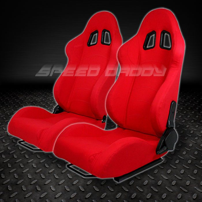 1 pair universal light weight fully reclinable racing woven seats ...