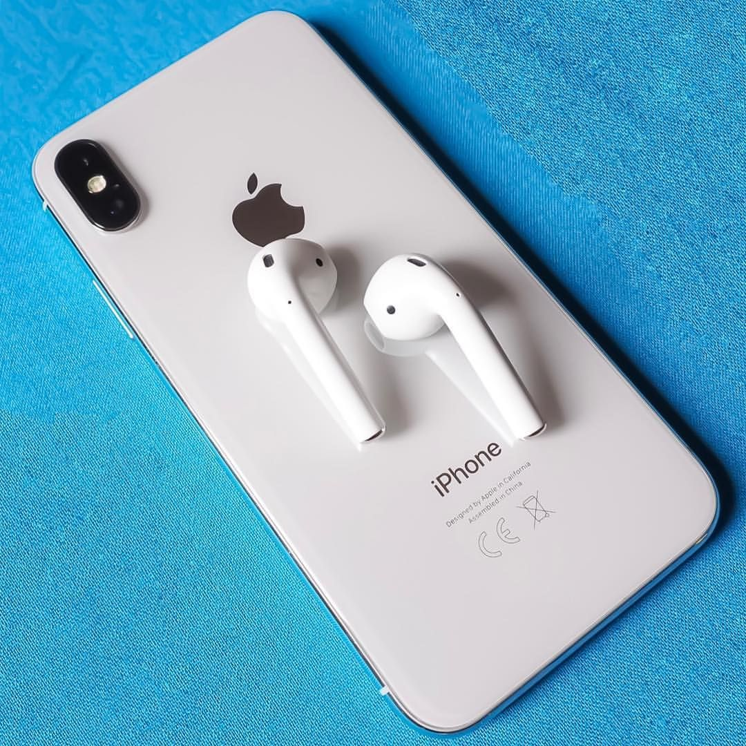 f4c738769d8 iPhone X & AirPods 359-365-2017. #apple #appleiphone #iphonex #silver # airpods #white #olympus