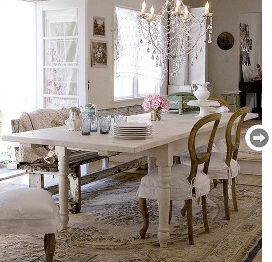 It\'s almost overly shabby chic for me, but I still like the table a ...