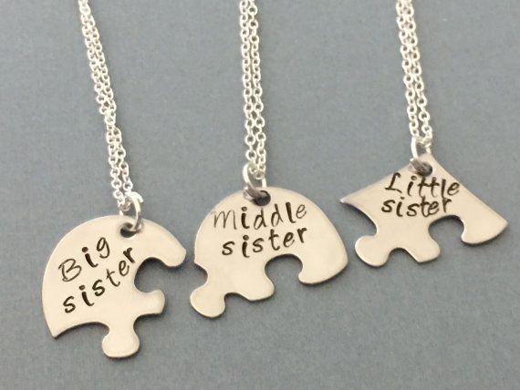 en venta 89670 4649e 3 mejor amigo collar 3 hermanas collar joyería de por ...