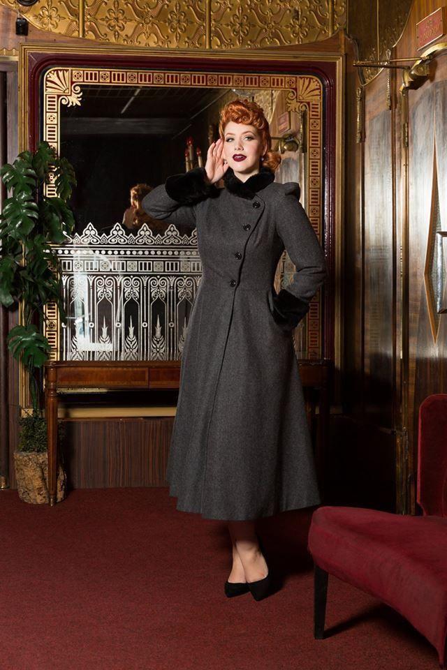 c17a3e96094 Voodoo Vixen Vintage Inspired Dress Coat Long Jackets Blue Cape Black Plaid  S-2X