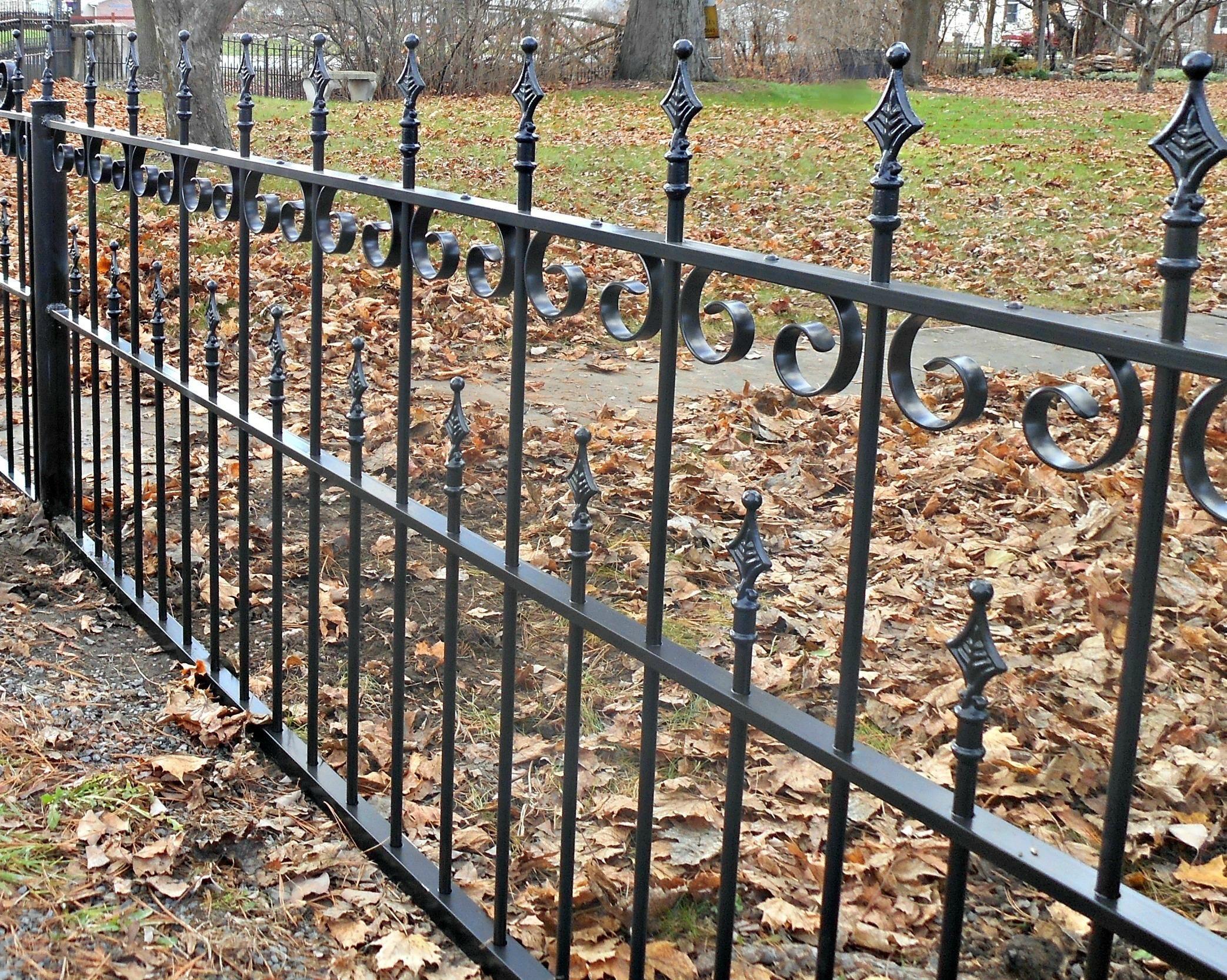 Amazing Antique Wrought Iron Fence Panels Setting Up The Garden Fence Correct Amazing Antique Correct Fenc In 2020 Fence Design Iron Fence Wrought Iron Fences