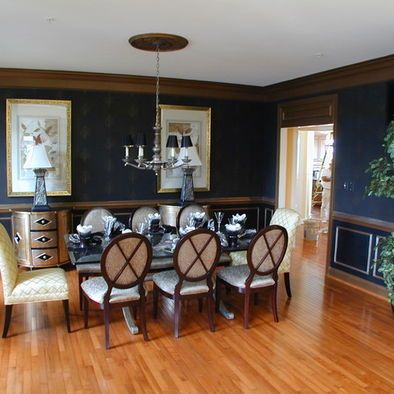 Navy Walls Oak Furniture Design Pictures Remodel Decor And Ideas