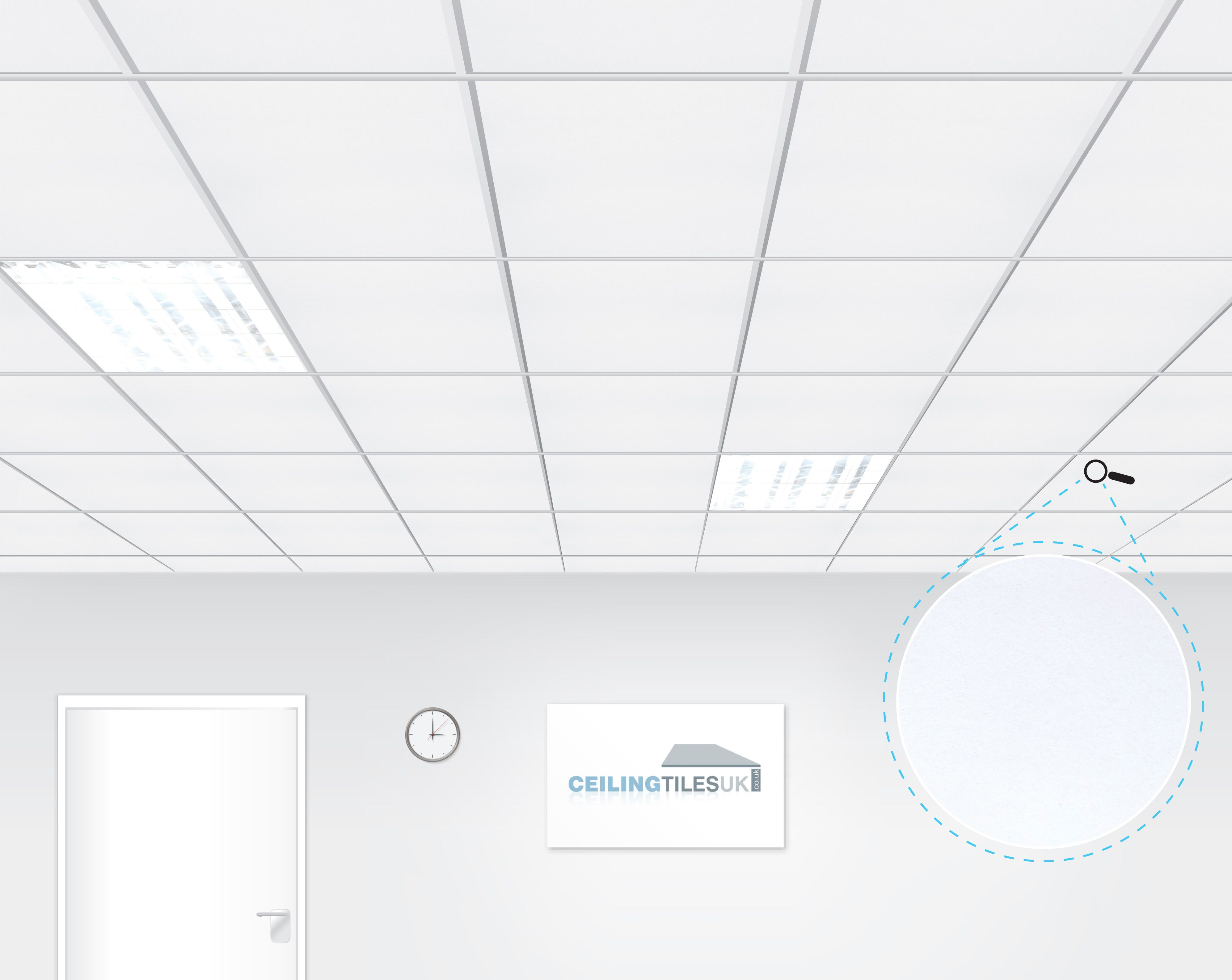 Rockfon alaska 600x600mm microlook suspended ceiling ceiling rockfon alaska 600x600mm microlook suspended ceiling ceiling tiles uk dailygadgetfo Images