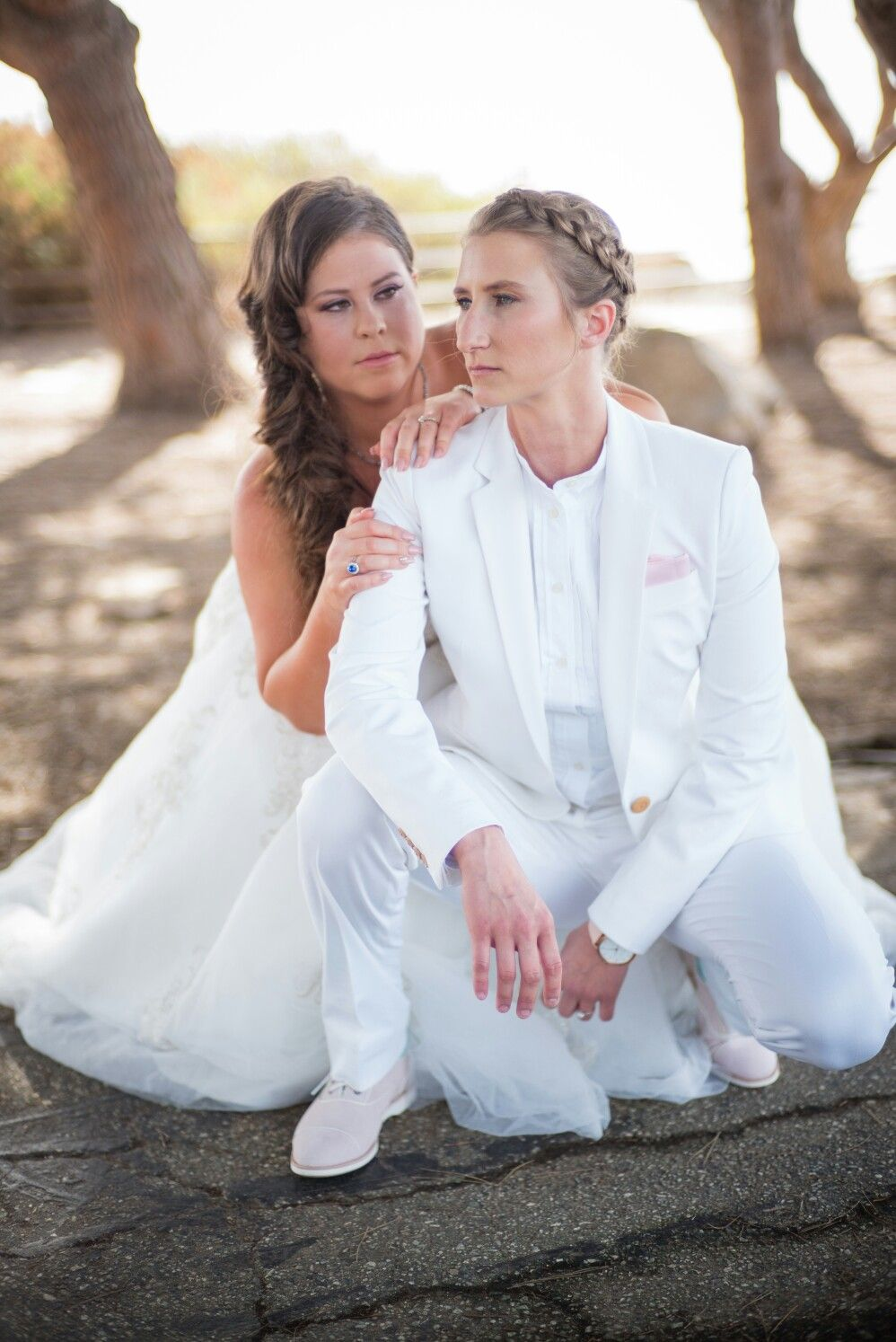 a5ed3955a Beautiful lesbian wedding fitted suit | Wedding Ideas in 2019 ...