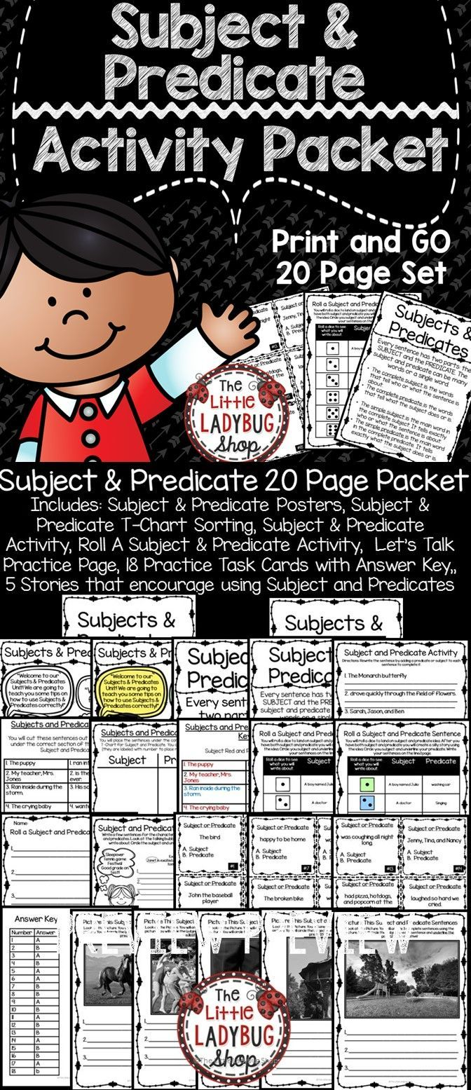 medium resolution of Subject and Predicate   Subject and predicate