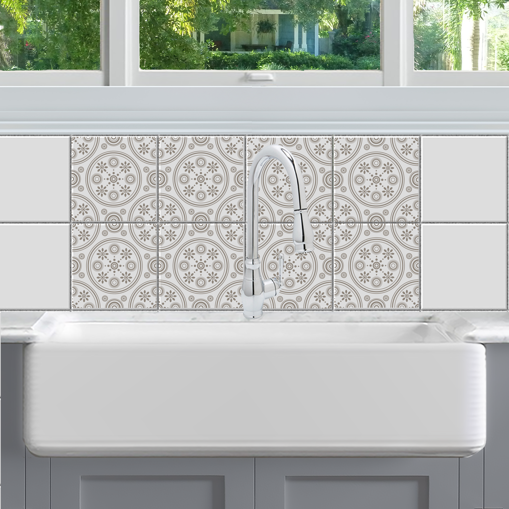 Retro Daisies Tile Decals | Tile decals, Laundry rooms and Laundry