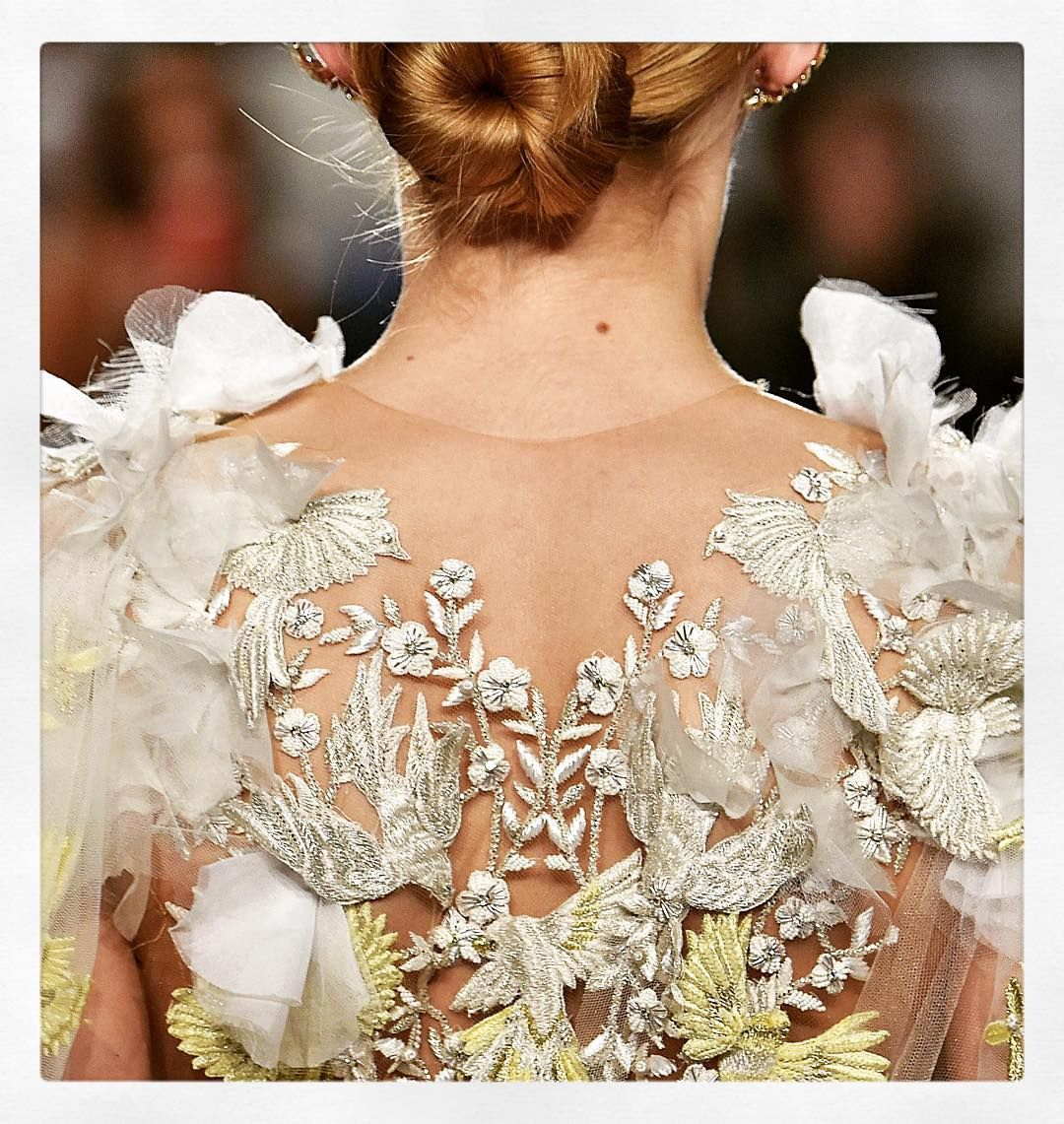 Back detailed shot from the SS16 Marchesa Runway show
