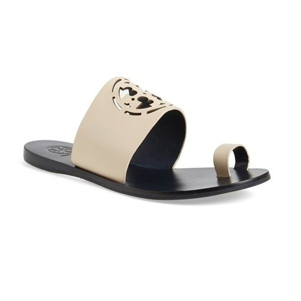 7e65d4c86 Tory Burch  Zoey  Slide Sandal ( 195) ❤ liked on Polyvore featuring shoes