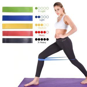 Yoga Cross-fit Resistance Fitness Bands 5 Level Set -  Yoga Cross-fit Resistance Fitness Bands 5 Lev...