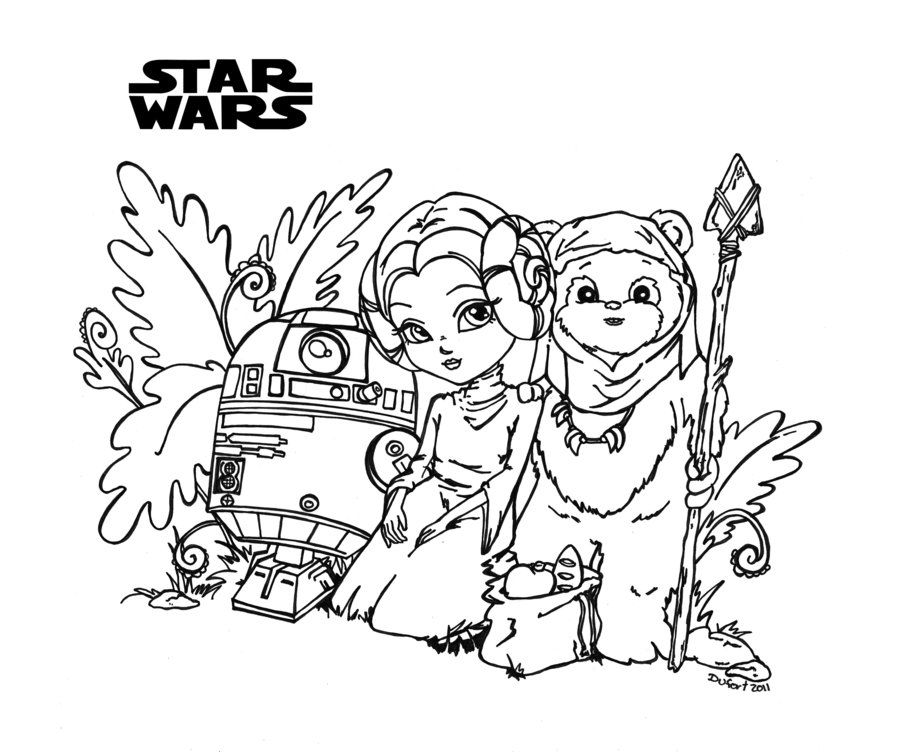 Star Wars by *JadeDragonne Printable Art Coloring Pages - fresh chinese new year zodiac coloring pages