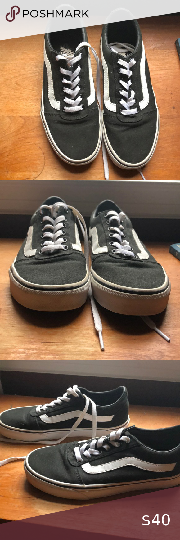 Vans size 9 Barely worn! Great condition. Some scuffs on the white ...