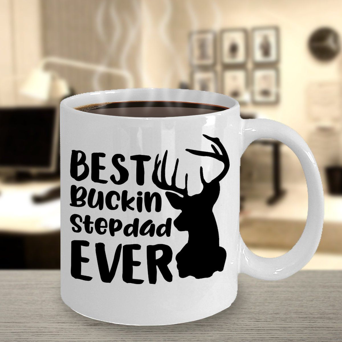 Best buckin step dad mug for step dad gift for stepdads