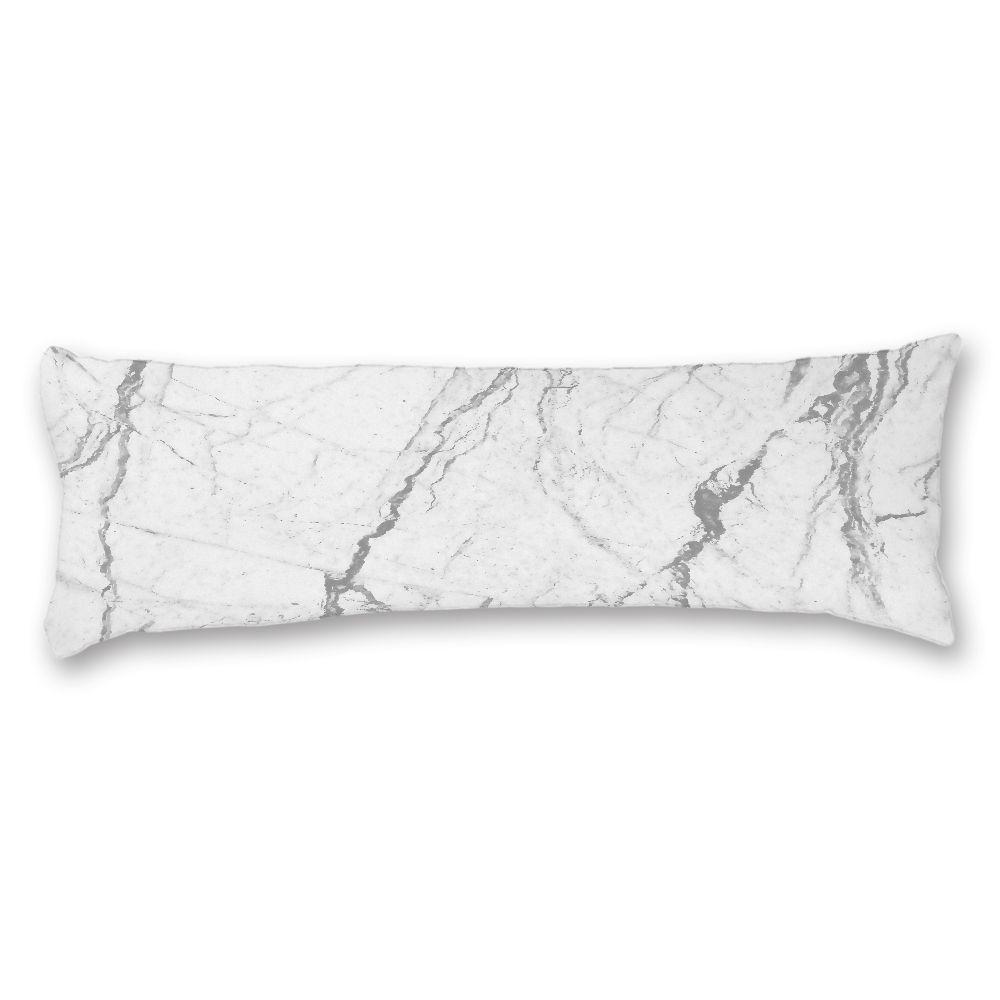 Body Pillow Cover 20 54 Long Pillowcase Marble Pattern White Pillow Case Cotton Soft Washable Print Pillowca Body Pillow Covers White Pillow Cases Body Pillow