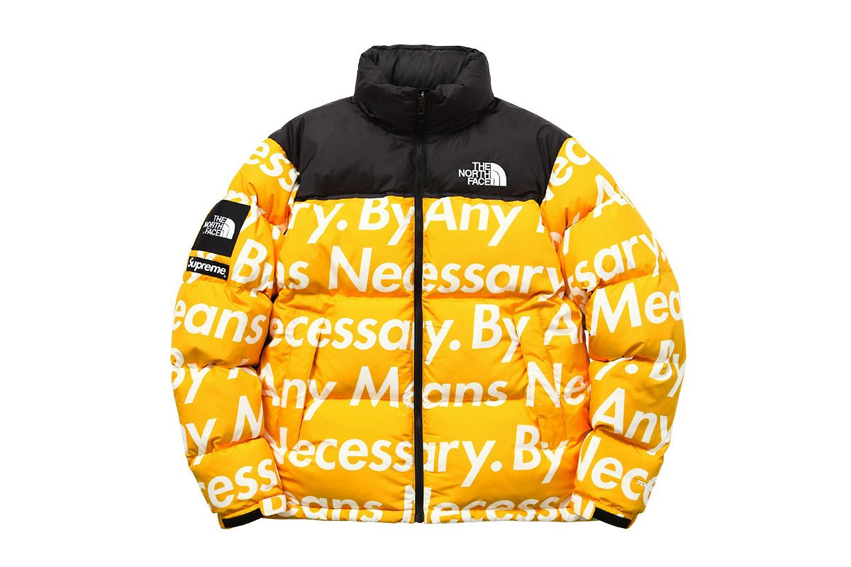 Supreme X The North Face Fall Winter 2015 Highsnobiety Yellow Parka The North Face North Face Jacket [ 800 x 1200 Pixel ]