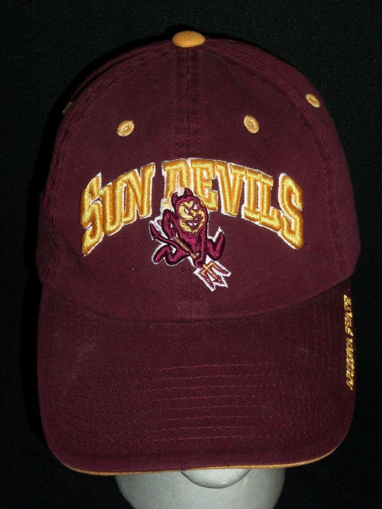 f6b7584f52777 Arizona State University ASU Burgundy Baseball Hat Cap College Sun Devils  Sparky  NCAA  ArizonaStateSunDevils