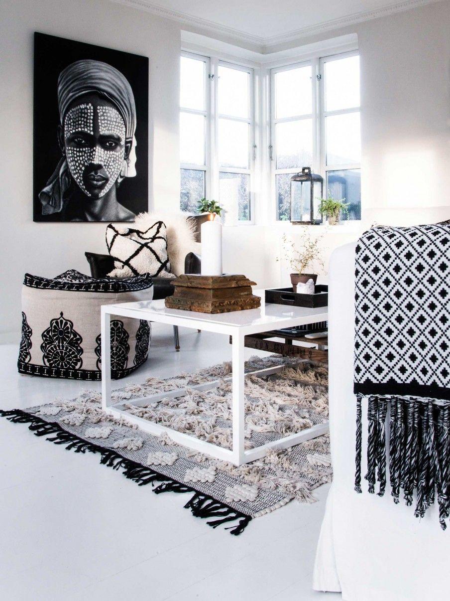 Zwart wit interieur | black and white interior | vtwonen 06-2017 ...