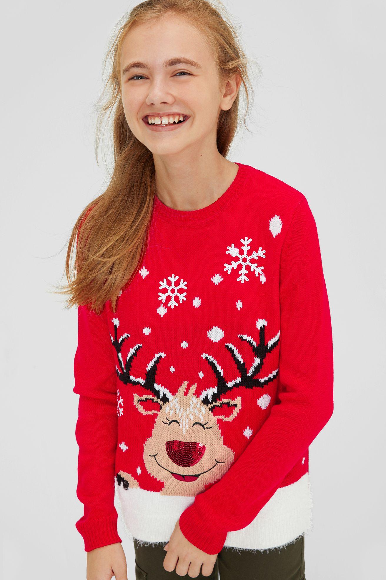 Weihnachtspullover - Glanz Effekt | Kinderbekleidung ...