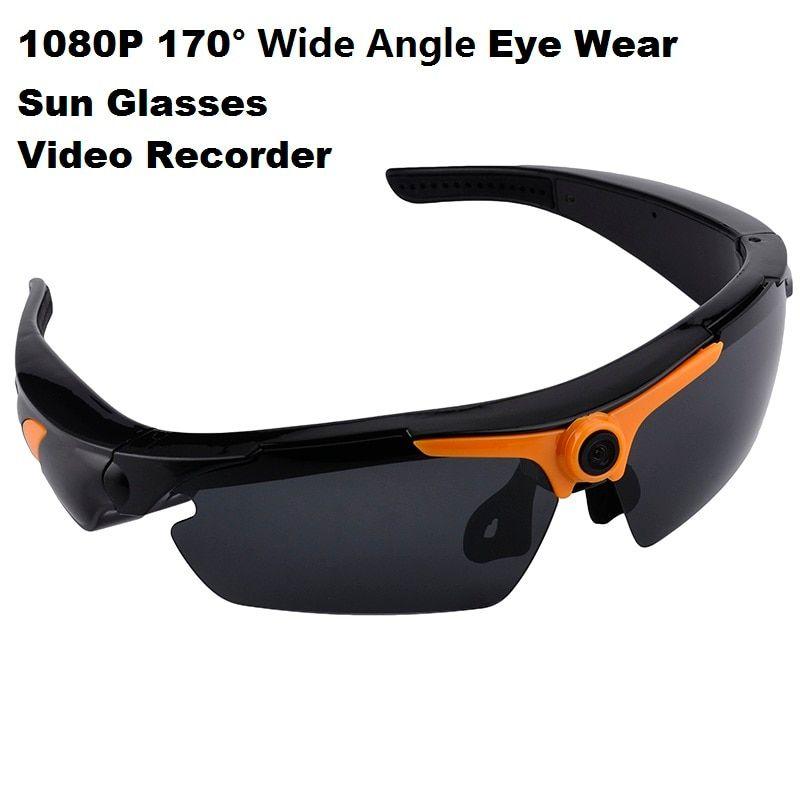 4ddd7557ed1c 1080P HD Angle Sunglasses 170 Wide Eye Wear Mini Video Recorder Camera Mini  DV DVR Polarized