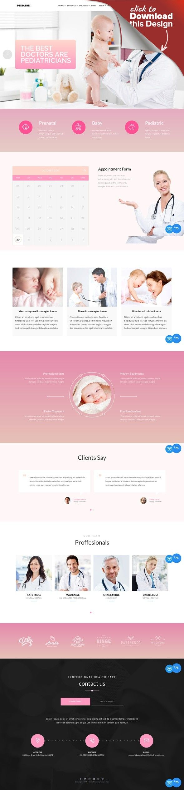 Clinic Health And Medical Center Wordpress Theme Cms Blog