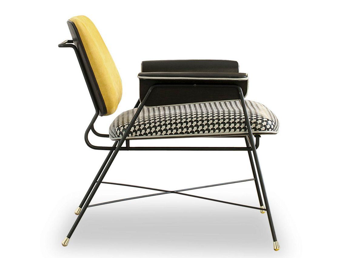 Leather easy chair BAUHAUS by BAXTER design Draga