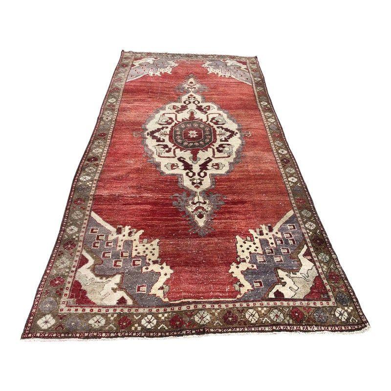 Vintage Turkish Handmade Red Oushak Rug 4 10x10 11 Rugs Oushak Rug Handmade Floor Rugs