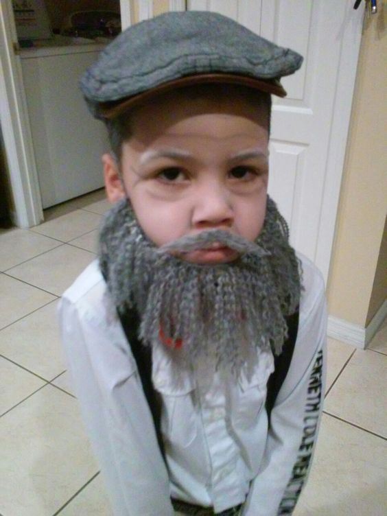 100 Year Old Man For The 100Th Day Of School Yarn Beard -1039