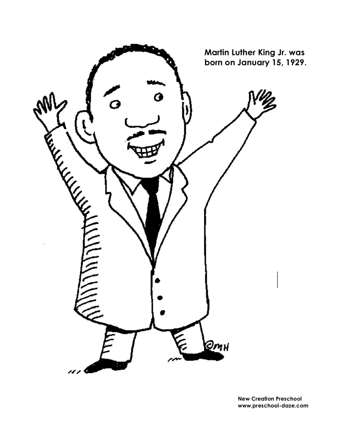 M Is For Martin Luther King Jr Printables