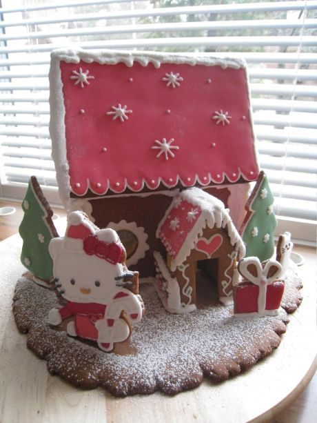 Hello Kitty gingerbread house