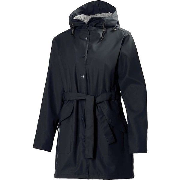 Helly Hansen Women's Kirkwall Rain Coat ($125) ❤ liked on Polyvore