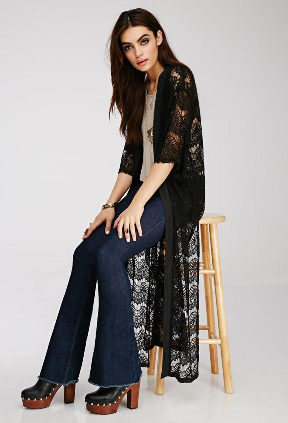 Eyelash Lace Maxi Cardigan http://picvpic.com/women-tops-sweaters ...