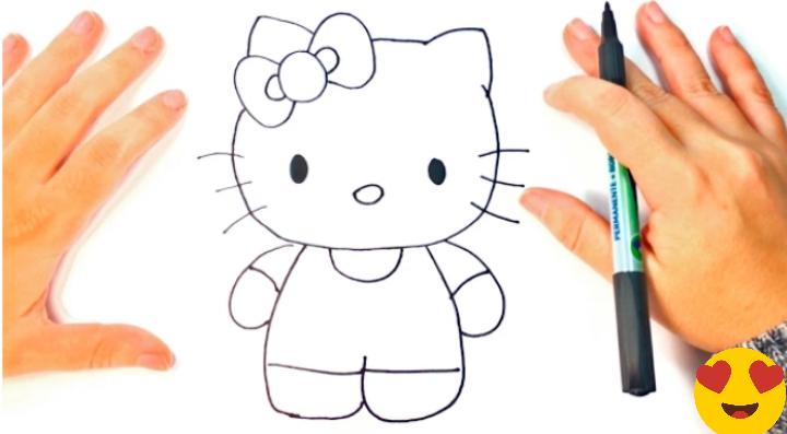 تعليم الرسم رسومات بالرصاص سهلة للمبتدئين وما هي أهم أدوات الر Kitty Drawing Hello Kitty Drawing Easy Drawings
